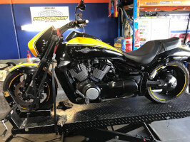 Suzuki Boulevard in for a service