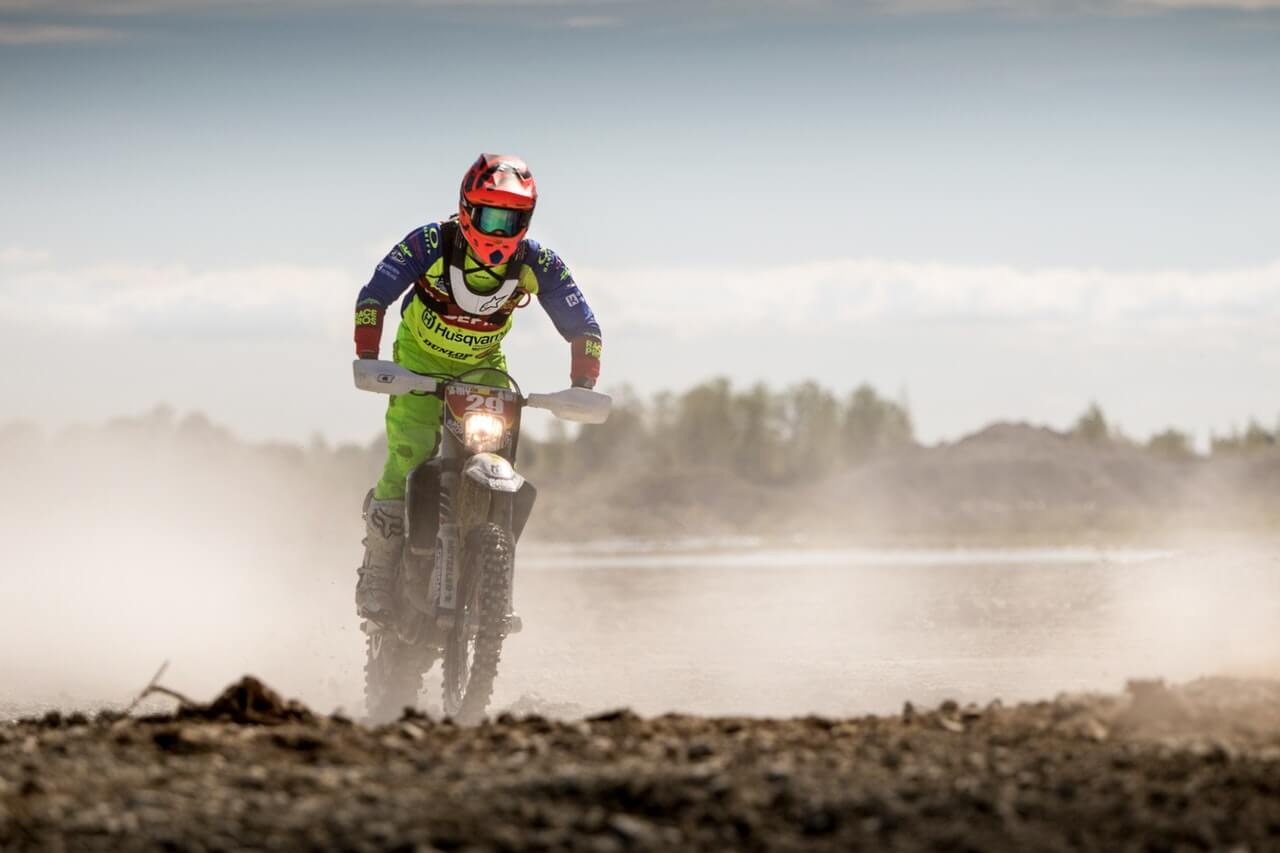 green enduro rider